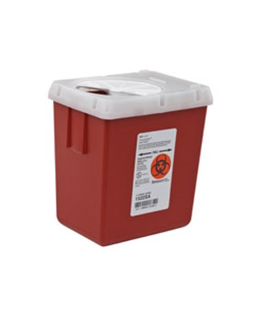 Sharps Container, 2.2 Qt, Red, 60/cs (16 cs/plt) (Continental US Only)