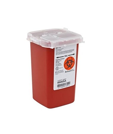 Sharps Container, 1 Qt, Red, 100/cs (24 cs/plt) (Continental US Only)