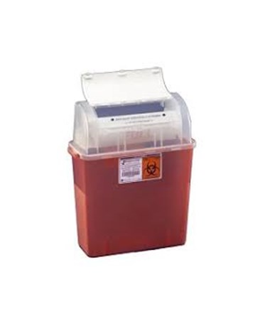 "Tortuous Path Sharps Container, 12¼""H x 4¼""D x 11""W, 5 Qt, Clear, 30/cs (Continental US Only)"