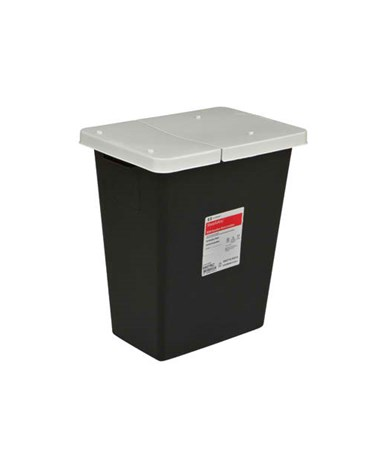Hazardous Waste Container, Hinge Top, 8 Gal, 10/cs (Continental US Only)