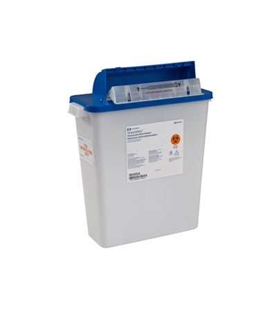 "Waste Disposal Container, 3 Gal , Tamper-Resistant Counter Balanced Lid, 16½""H x 6""D x 13¾"" W , 10/cs (Continental US Only)"