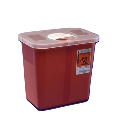 Container, 2 Gal, Red, Rotor Opening Lid, 20/cs (35 cs/plt) (Continental US Only)