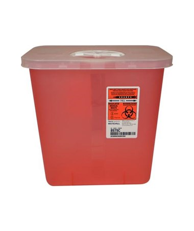 "Multi-Purpose Clear Container, 2 Gal, Rotor Lid, 10""H x 7¼""D x 10½""W, 20/cs (Continental US Only)"