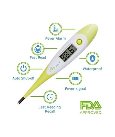 CareTouch Digital Oral Thermometer w/50 Probe Covers CTET-110