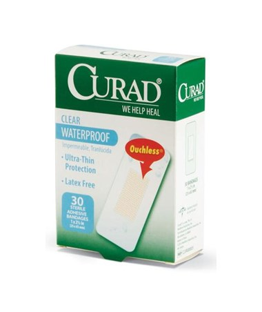 Curad Clear Waterproof Adhesive Plastic Bandages
