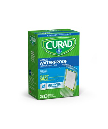 Clear Waterproof Adhesive Plastic Bandages CURCUR00005-