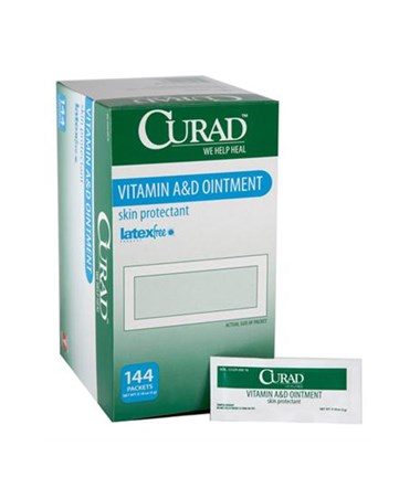 Curad Vitamin A&D Ointment Box of 5g Foil Packets