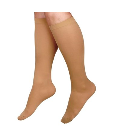 Beige 20-30 mmHg Knee Length Compression Hosiery CURMDS1702ATSH-