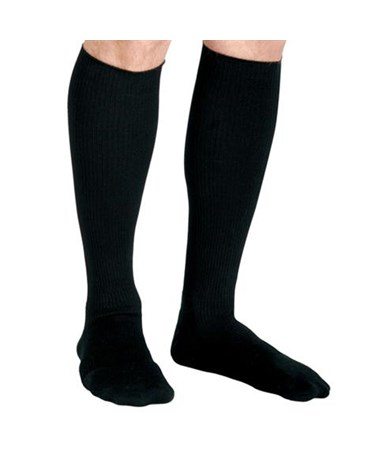 Curad Black 15-20 mmHg Knee Length Compression Socks