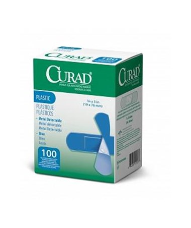 Food Service Plastic Adhesive Bandages CURNON25500BL-