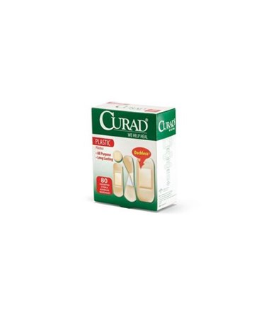 Curad Plastic Adhesive Bandages Assorted Sizes