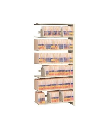 "4 Post Double Entry Add-On Shelving 76-1/4"" High, 5 to 7 Tiers DAT762424-A7-"