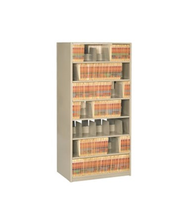 "4 Post Double Entry Shelving 76-1/4"" High, 5 to 7 Tiers DAT762424-S5-"