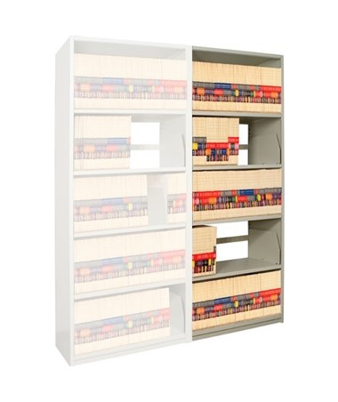 "4Post X-Ray Add-On Shelving 88-1/4"" High, 5 Openings DAT851824-A5-"
