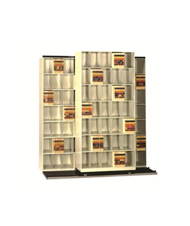 "Datum Vu-Stak® BiSlider™ Letter-Size Filing System - Five 36"" Units with 6 Tiers"
