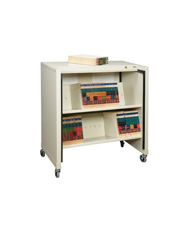 Datum BFC-2TD File Cart with Tambour Door Open
