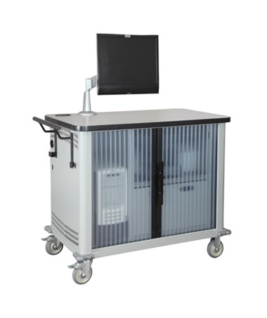 Datum Mobile Computer Station™ with Closed Tambour Door