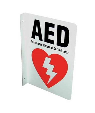 DEFDAC-230- AED Wall Signs - 2-Way Wall Sign