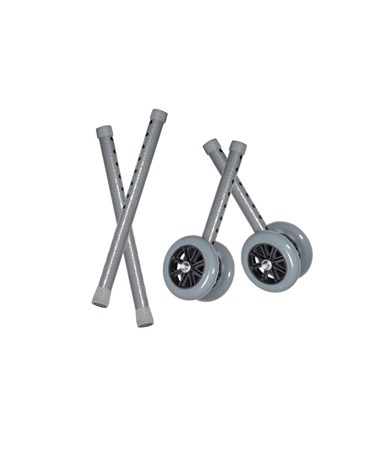 """Drive 10118CSV 5"" Bariatric Walker Wheels, Gray"""