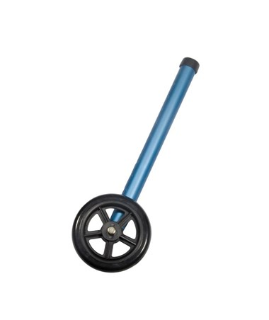 """Drive 10128BL 5 Walker Wheels with Two Sets of Rear Glides, Blue"""