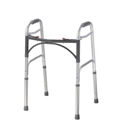 Deluxe Two-Button Folding Walker DRI10200-4