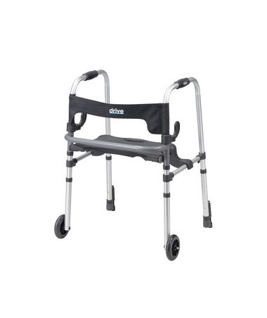 Clever-Lite LS Rollator Walker with Seat and Push Down Brakes DRI10233