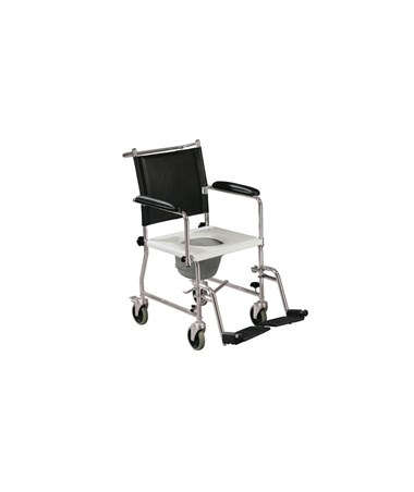 """Drive 11120KD-1 Portable Upholstered Wheeled Drop Arm Bedside Commode"""
