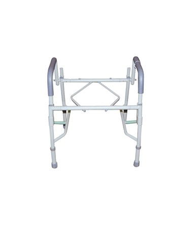 """Drive 11125PSKD-1 Deluxe Steel Drop-Arm Commode"""