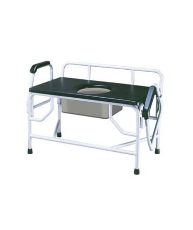 """Drive 11132-1 Bariatric Drop Arm Bedside Commode Seat"""