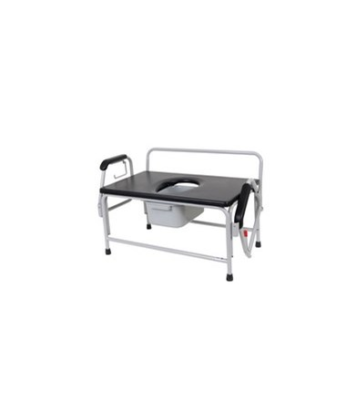 Drive 11132-1 Extra-Large Bariatric Drop-Arm Commode