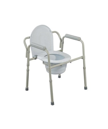 """Drive 11148-1 Folding Steel Bedside Commode"""