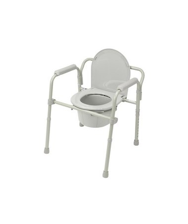 Drive 11148-1 Folding Steel Bedside Commode