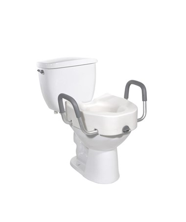 """Drive 12013 Regular/Elongated Toilet Seat with Arms"""