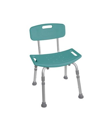 """Drive 12202KDRT-1 Bath Bench with Back, Teal"""