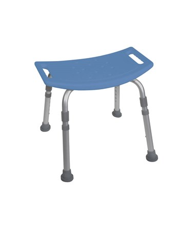 """Drive 12203KDR Bath Bench without Back Blue"""