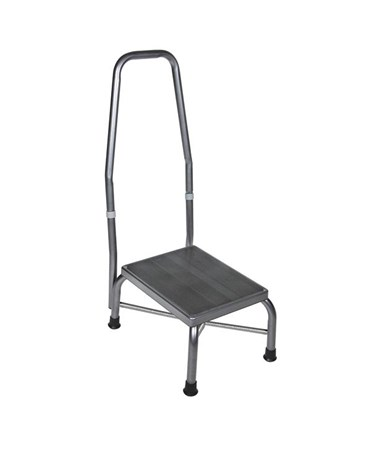"""Drive 13031-1SV Foot Stool, With Handrail"""