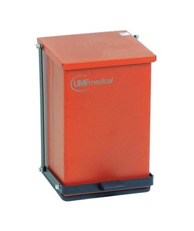 Step-On Waste Receptacle, Baked Epoxy, Red, 24 Quart (6 Gallon / 23 Liter) 16 H x 11-3/4 W x 13 D (41cm H x 30cm W x 33cm D) DRI1473R