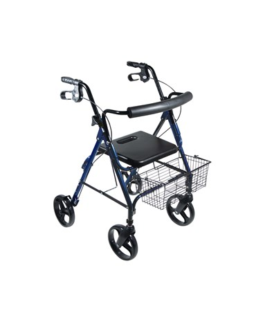"""Drive 750NB D-Lite, Aluminum Rollator, 8"" Casters with Loop Locks and Tool Free Removable Wheels Blue"""