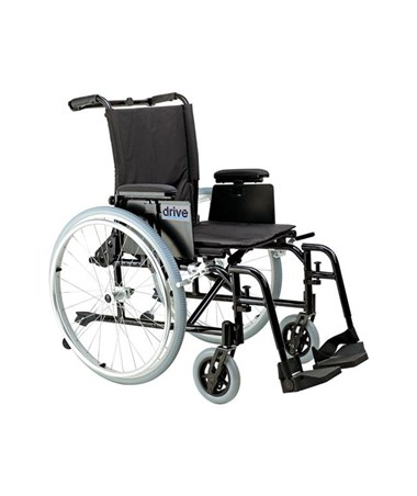 """Drive Cougar Ultra Lightweight Rehab Wheelchair with Swing away Footrest"""