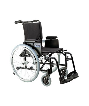 Cougar Ultra Lightweight Rehab Wheelchair with Various Arms Styles and Front Rigging Options DRIAK516ADA-AELR