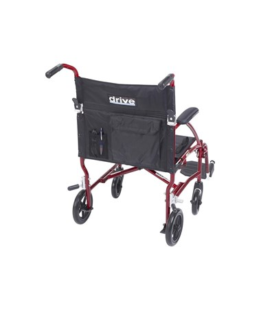 """Drive DFL19-RD Fly-Lite Aluminum Transport Chair 