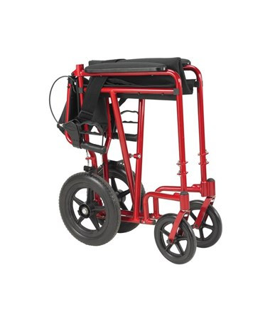"""Drive EXP19LTBL Lightweight Expedition Transport Wheelchair with Hand Brakes"""