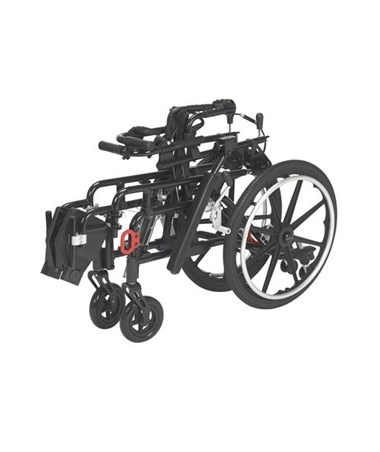 Wenzelite by Drive Medical Kanga TS Folding Tilt-in-Space Wheelchair Frame - Folded