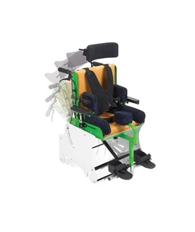 MSS Tilt chair showing the motion of the tilt system