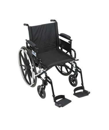 """Drive Viper Plus GT Wheelchair with Adjustable Flip Back Removable Desk Arms & Swing Away Footrest"""
