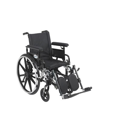 """Drive Viper Plus GT Wheelchair with Adjustable Flip Back Removable Full Arms & Elevating Leg Rest"""