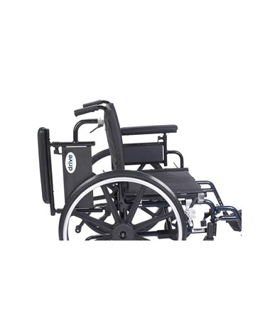 """Drive Viper Plus GT Wheelchair with Adjustable Flip Back Removable Full Arms & Swing Away Footrest"""