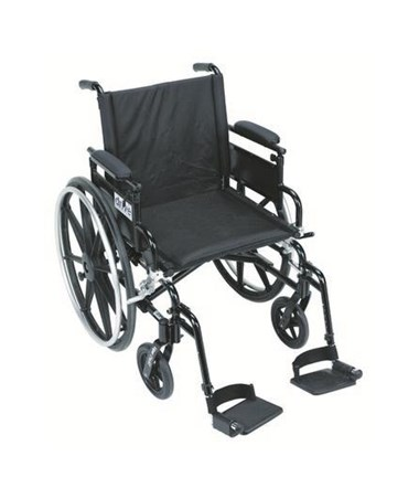 Viper Plus GT Wheelchair with Flip Back Adjustable Height Arms with Various Front Rigging DRIPLA416FBFAARAD-SF