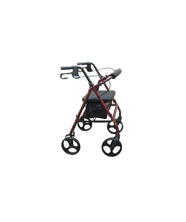 """Drive R728RD Aluminum Rollator - Red"""