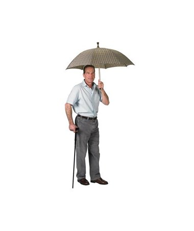 Umbrella Cane in Use